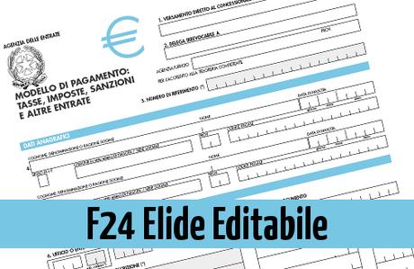 F24 elide editabile il processo telematico for F24 unificato